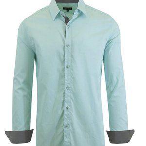 Galaxy by Harvic Men's Long-Sleeved Dress Shirt 2X